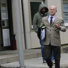 Verteidiger Heinig und der Angeklagte Einsiedler bei der ersten Verhandlung vor dem Amtsgericht Memmingen.