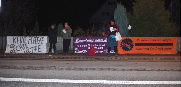Protest am 20.12.16 vor Gasthof Kreuz in Memmingen ©S. Lipp