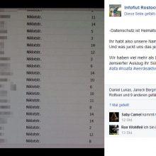 Von Neonazis veröffentlichte Adressliste von Anwohnern (Verpixelung: Störungsmelder) © Screenshot