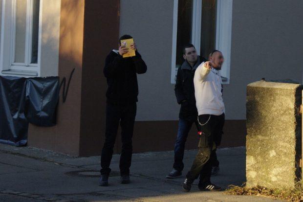 Besucher der NPD Weihnachstfeier in Memmingen-Steinheim am 10.12. ©S. Lipp