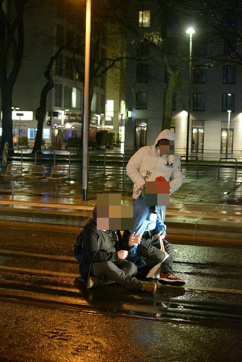 Rechtsextreme räumen Sitzblockierer in Dresden - Störungsmelder
