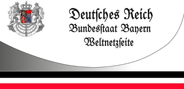 """""""Weltnetzseite"""" des """"Bundesstaat Bayern"""" (Screenshot)"""