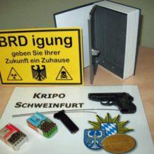 Eine der aufgefundenen Waffen (Polizei Bayern)
