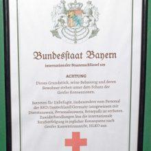 An mehreren Objekten aufgefundenens Dokument (Polizei Bayern)