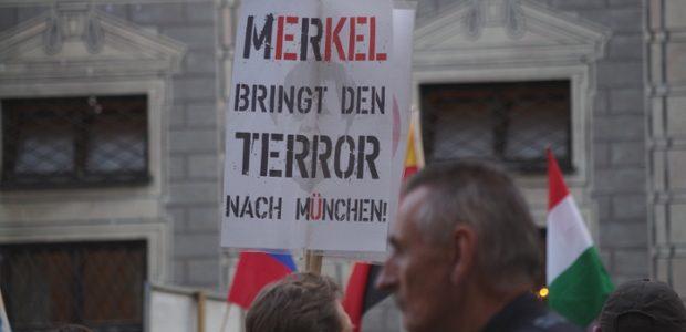 Pegida München am 1.8.16 ©S. Lipp