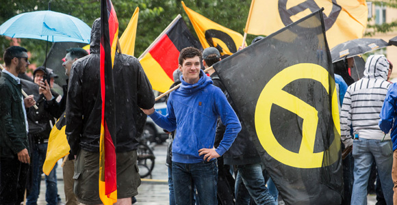 """Identitäre"" am 17. Juni 2016 in Berlin"