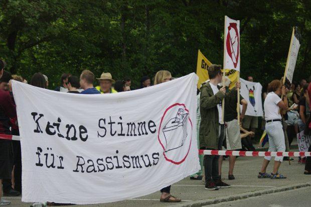 Protest gegen die AfD am 7.7.2017 in Lauben ©S. Lipp