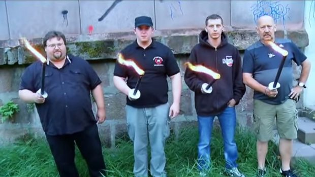 """Mit ihrem Video """"Buntes Trier, nicht mit mir - 444!"""" wurden sie weit über die Stadtgrenzen hinaus bekannt: die NPD Trier (Foto: Screenshot/YouTube)"""