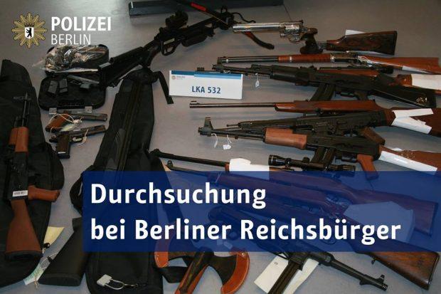 Polizei findet scharfe Waffen bei Reichsbürger in Berlin
