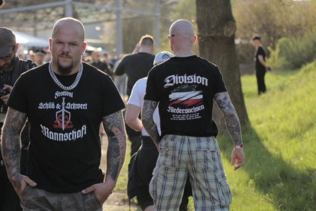 Fremdenfeindlichkeit: So rechtsextrem war 2018: Besucher des Ostritzer Neonazifestivals im April © Henrik Merker