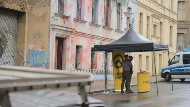 Kommunalwahl in Halle: Kundgebung vor dem Identitären Haus in Halle am 11. Mai 2019 © Henrik Merker