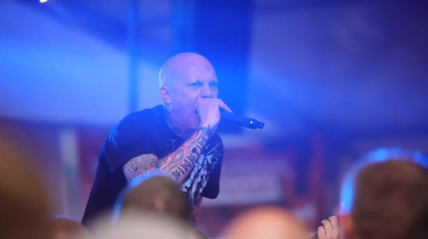 Rechtsrock-Festival: Marko Gottschalk, Sänger der Band Oidoxie © Henrik Merker