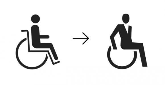 Rollstuhlfahrer-Piktogramm