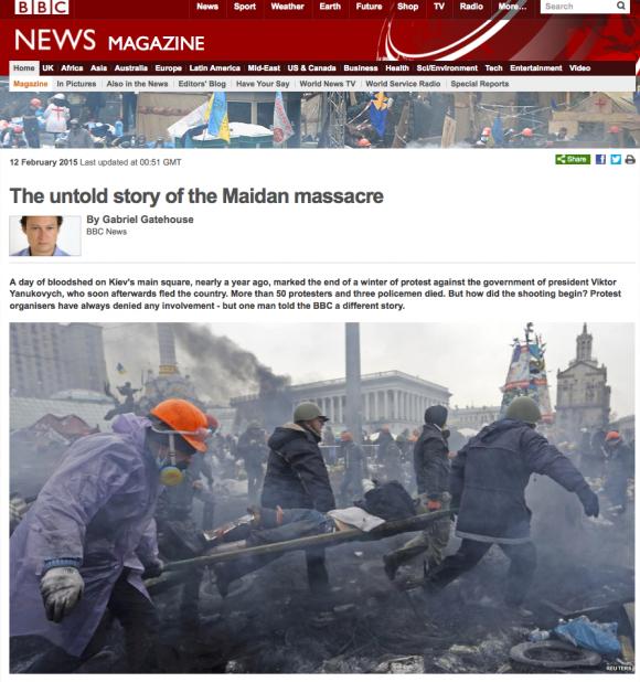 Maidan-Proteste, mal anders erzählt
