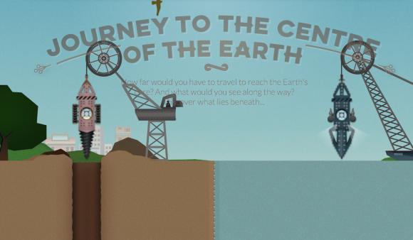 Reise zum Mittelpunkt der Erde. Screenshot: BBC