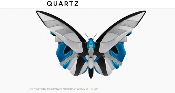 Kunst aus Sneakers. Screenshot: Quartz