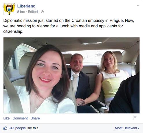 Screenshot von Liberlands Facebook-Seite