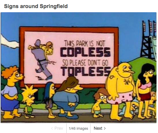Simpsons' Springfield-Schilder-Schau