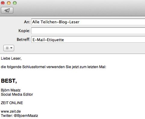 Warum Best Nicht Als E Mail Schlusswort Taugt