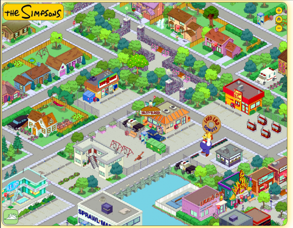 Simpsons Springfield Map Pictures To Pin On Pinterest