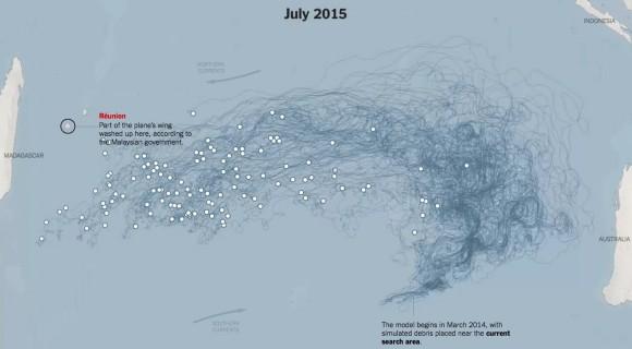 Wie das MH370-Wrackteil nach La Réunion gelangt sein könnte