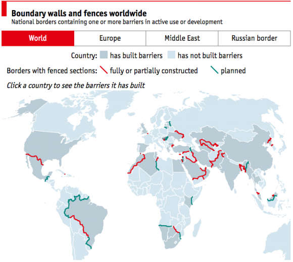 Die Welt zieht Mauern hoch