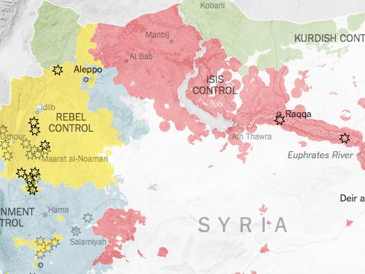 Wo Russland in Syrien bombt und wo die USA