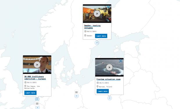 Interaktiven Karte des Europäischen Rats.