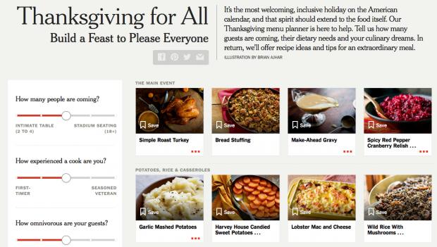 Thanksgiving: Dieses Tool plant Ihr Festtagsmenü