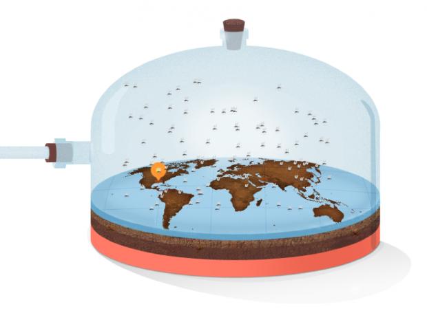 Ein Mückenschwarm zeigt die Zika-Gefahr