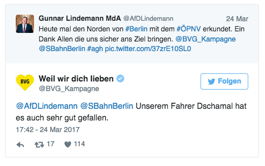 Fährt ein AfD-Politiker mit der Bahn ...