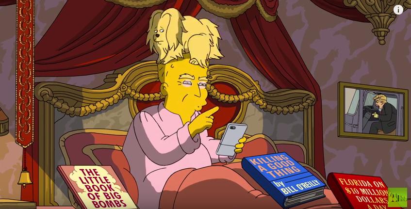 Die Simpsons lüften das Geheimnis um Trumps Haare
