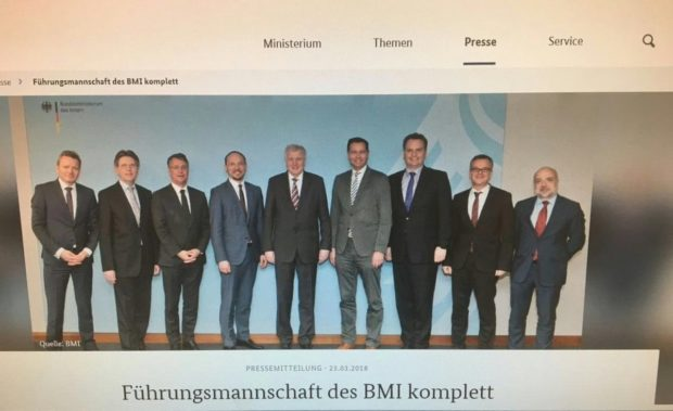 Horst Seehofer hat seine FührungsMANNschaft beisammen