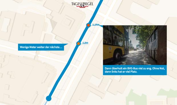 Radmesser: So nah kommen sich Autos und Radfahrer im Straßenverkehr