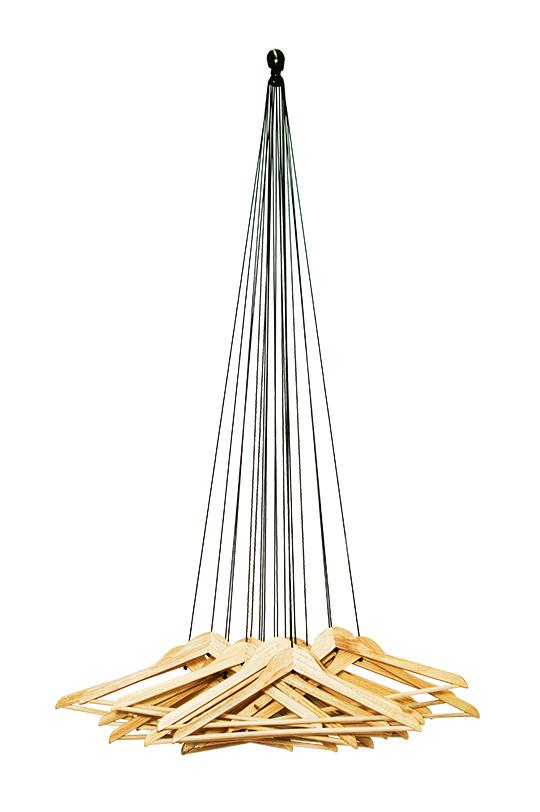 Garderobe 20 hangers heiter bis gl cklich for Garderobe seil