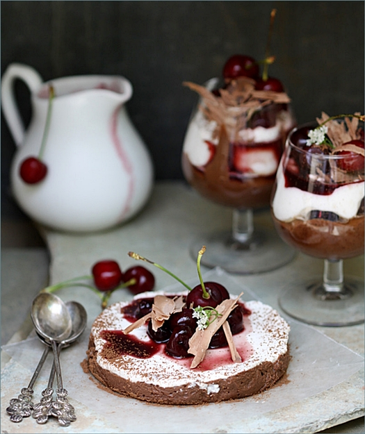 Bittersweet-Chocolate-Marquise-with-Crème-Chantilly-Balsamic-Cherry-Sauce-14