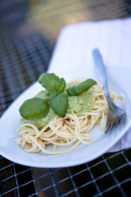Pasta mit Zucchinicreme - Mirja Hoechst - kuechenchaotinDE