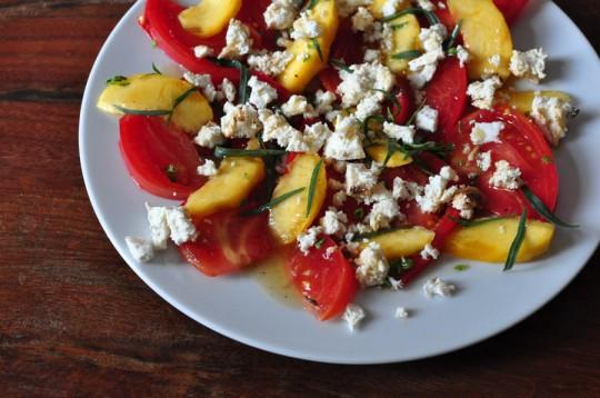 pfirsich-paradeiser-salat