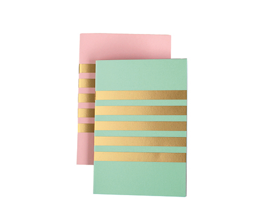 HBG_StudioSarah_Stripes notebook pair green pink 2_SCplusV2